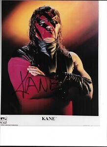 WWE KANE AUTOGRAPHED AUTHENTIC 8X10 WRESTLING PHOTO NO RESERVE