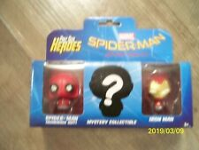 BRAND NEW! MARVEL SPIDERMAN + IRON MAN PINT SIZE HEROES COLLECTIBLES, 3-PACK!