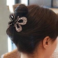Crystal Hair Claw Alloy Rhinestone Grab Clip Clamp Women Hair Style Accessory