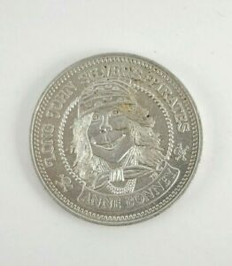 Vintage 1976 Long John Silvers Pirate Doubloon Coin Token Anne Bonney