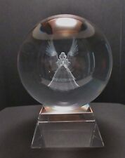 Angel 3D Laser Cut Crystal Ball Ornament 150mm on Stand FREE SHIPPING