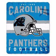 """New Northwest NFL Carolina Panthers Large Soft Fleece Throw Blanket 50"""" X 60"""""""
