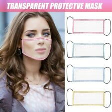Adult Transparent Face Mask With Clear Window Visible Expression For The Deaf