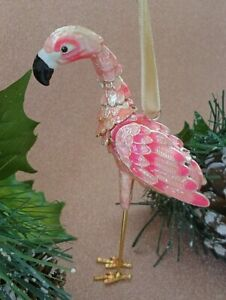 Pier 1 Handcrafted Cloisonné Flamingo Ornament