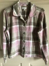 CHRISTOPHER & BANKS Pink Brown Plaid Button Front Jacket Blazer Size M
