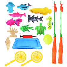 KM_ 18Pcs/Set Magnetic Inflatable Sea Turtle Fish Puzzle Game Kid Interaction To