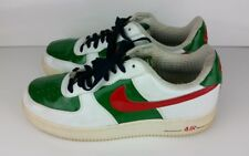 NIKE AIR FORCE 1 PREMIUM MEXICO 309096-162 WHITE/SPORT RED-PINE GREEN-OBS SZE~10