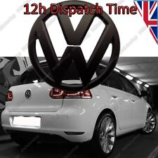 NUOVO VOLKSWAGEN VW GOLF MK6 VI Posteriore BLACK BADGE MATTE CON LOGO EMBLEMA Boot 110mm