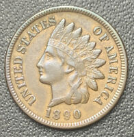 1890 INDIAN HEAD CENT -With LIBERTY & DIAMONDS - XF EF- Free Shipping • 4697