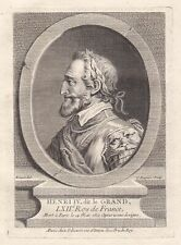 Henri IV Heinrich Henry king roi France Frankreich Kupferstich Portrait gravure