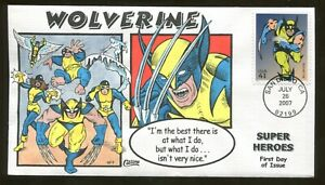 2007 San Diego California - Super Heroes - Wolverine - Collins FDC