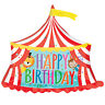 Amscan Happy Birthday Circus Tent SuperShape Foil Balloons