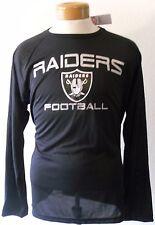 NWT NFL Oakland Raiders Mens Primary Logo L/S Performance T-Shirt L Black $40