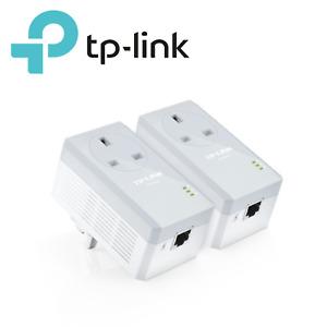 TP LINK PASSTHROUGH HIGH SPEED POWERLINE 600 STARTER KIT 1 PORT TL-PA4010P-KIT