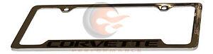 Chevrolet Corvette Genuine GM Chrome License Plate Holder Frame 19330389