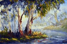 Original Australian Landscape painting in acrylic of Australian bush