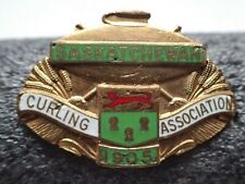 Vintage Curling Association 1905 Saskatchewan Pin -Stamped Mackenzie on backside