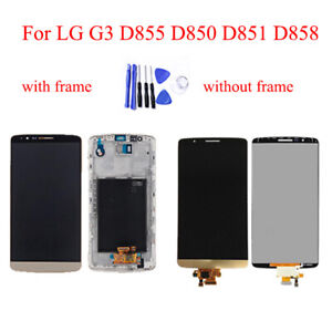 For LG G3 D850 D851 D855 LCD Display with Frame Touch Screen Digitizer Assembly