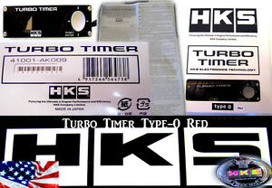 NEW HKS TURBO TIMER Protector BLACK TYPE-0 ZERO RED LCD Fits For Charged Engines
