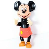 Walt Disney Productions Mickey Mouse VTG Rubber Figure Squeak Toy Japan