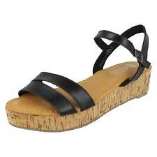 Ladies Spot On Cork Sandal