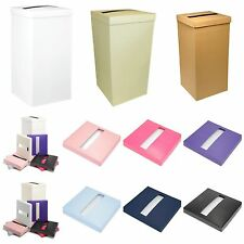 Tall Silk Wedding Card Post Box DIY Wishing Well Receiving Box Coloured Lids