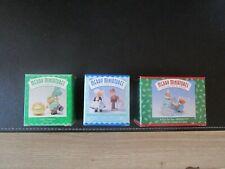 Nib Hallmark Merry Miniatures Lot Of 3 Lucky Cameron Park Avenue Wendy Hershey's