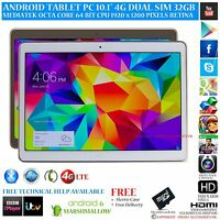 """10.1"""" ANDROID 6.0 PHONE TABLET PC 4G GPS OCTA CORE 32GB RETINA IPS BT KEYBOARD"""