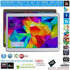 "10.1"" ANDROID 6.0 TEL TABLET PC 4G GPS OCTA CORE 32GB RETINA IPS BT TASTIERA"