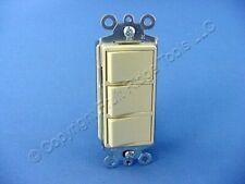 New Cooper Ivory Decorator Triple Rocker Wall Single Pole Light Fan Switch 3283v