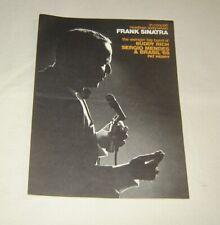 Original Frank Sinatra In Concert 1967 Program Buddy Rich Big Band Sergio Mendes