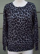George Womens Knit Animal Print Sweater Sz XXL 20 Gray Top