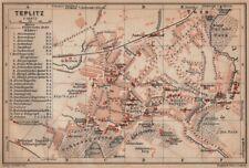 TEPLICE / Teplitz-Schönau town city plan mesta. Czech Republic mapa 1905