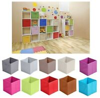 Non Woven Fabric Baskets Cube Storage Box Toy Magazine Bookcase Shelf 31x31x31cm