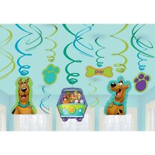 Scooby Doo Hanging Swirls with Cutouts 12 PK Party Decoration