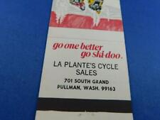 SKI-DOO SKI DOO SNOWMOBILE DEALER LA PLANTES CYCLE PULLMAN WASHINGTON MATCHBOOK