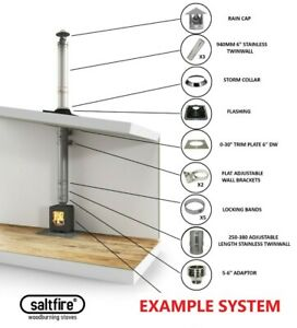 Twinwall Flue Pipe Chimney System Design Planning For Stoves Woodburners