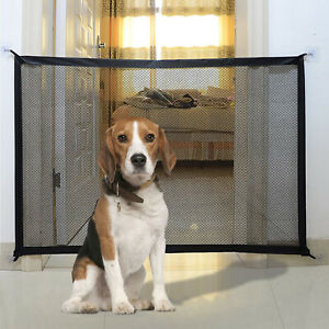 Retractable Pet Dog Gate Safety Guard Folding Baby Stair Gate Indoor UK Stock