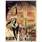 Advert Theatre Opera Masked Ball Paris 12X16 Inch Framed Art Print