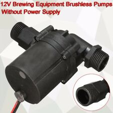 "12V DC Brewing Pump 1/2"" BSP Homebrew Beer Wort Mash Circulation Brushless Pump"