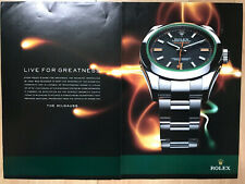 Rolex Milgauss 116400 2012 2 Page Advertisement Pub Ad Werbung