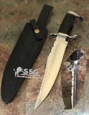 """14""""custom D2 hunting Survival Bowie Knife Buffalo Horn"""