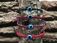 EVIL EYE BRACELET KABBALAH GREEK TURKISH EYE LUCK PROTECTION HIPPY handmade UK