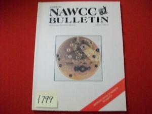 NAWCC BULLETIN VOL 36/5 # 292 OCT. 1994 HOROLOGY JAMES SHORT TOWER CLOCK & MORE
