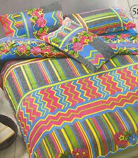 Completo Copripiumino Copripiumone matrimoniale 2 piazze Gabel Ibiza Multicolore