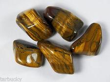 """2 oz  GOLD TIGER EYE  Large 1"""" + Bulk Tumbled Stone Metaphysical Healing FS"""