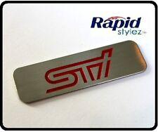 STI WRX Rally WRC Badge S Emblem Aluminium Subaru Front Lip Splitter Spoiler 87