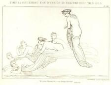 Flaxman's Illiad Drawing -1833- THETIS ORDERING NEREIDS