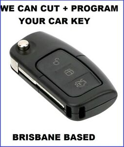 Compatible for Ford Flip KEY Cut + Programmed Falcon BF FG Focus XR6 Territory