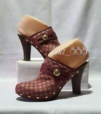 CELINE Monogram Clogs Heels Shoes Size 36